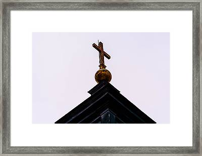 The Top Of A Church Cross Framed Print
