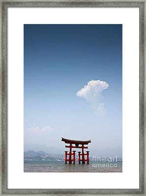 The Torii At Noon  Framed Print