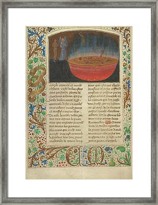 The Torment Of Murderers Simon Marmion, Flemish, Active Framed Print by Litz Collection