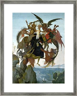 The Torment Of Saint Anthony Framed Print by Michelangelo Buonarroti