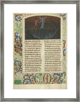 The Torment Of The Proud - Valley Of Burning Sulphur Simon Framed Print by Litz Collection