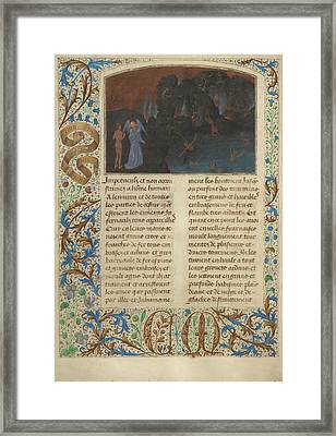 The Torment Of Unbelievers And Heretics Simon Marmion Framed Print by Litz Collection