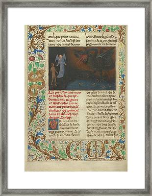 The Torment Of Unchaste Monks And Nuns Simon Marmion Framed Print by Litz Collection