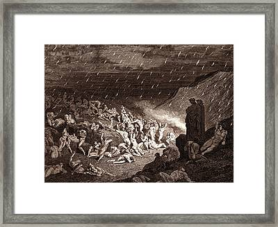 The Torture Of The Fiery Rain Framed Print by Litz Collection