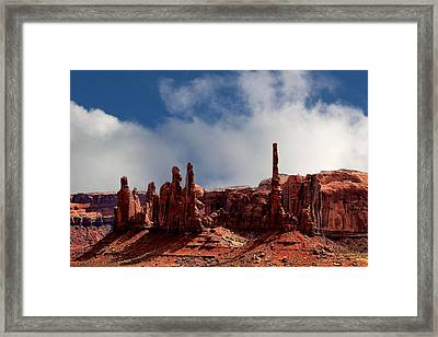The Totems Monument Valley Framed Print by Tom Prendergast