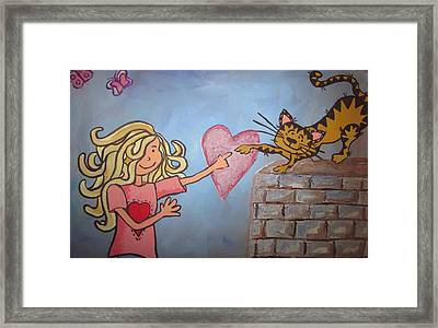 The Touch Framed Print by Cherie Sexsmith