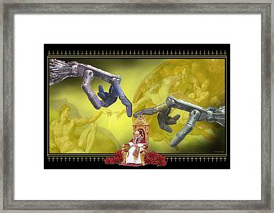 The Touch Framed Print