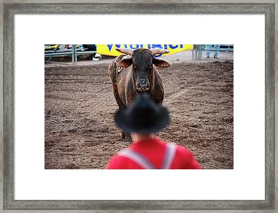 The Tough & Dark Side Of Rodeo Cowboys Framed Print