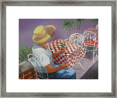 Framed Print featuring the painting The Tourist by Tony Caviston