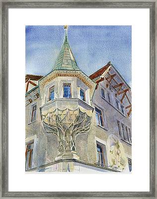 The Tower At Conditorei Central Framed Print