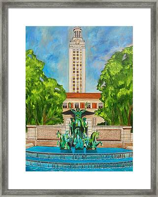 The Tower - Austin Texas Framed Print by Manny Chapa