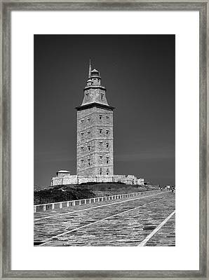 The Tower Of Hercules Lighthouse 2nd Century Framed Print by Guido Montanes Castillo
