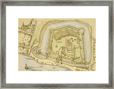 The Tower Of London, From A Survey Made Framed Print by English School