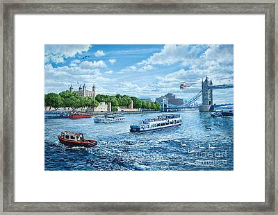The Tower Of London Framed Print by Steve Crisp