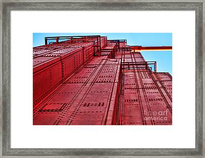 The Tower On Golden Gate By Diana Sainz Framed Print