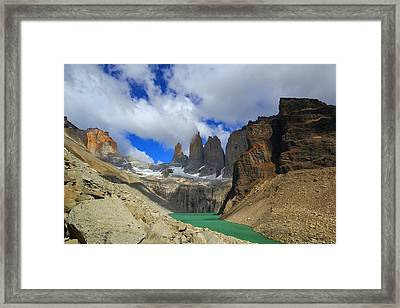 The Towers Framed Print by FireFlux Studios