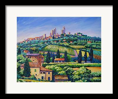 Montepulciano Framed Prints