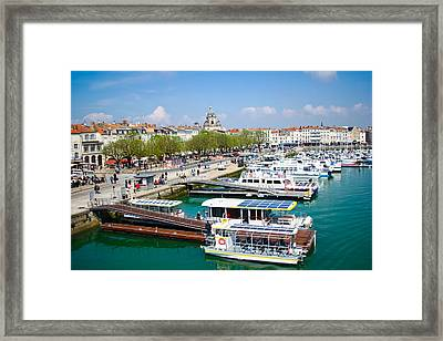 The Town And Port Of La Rochelle Framed Print