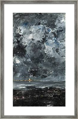 The Town Framed Print by August Strindberg