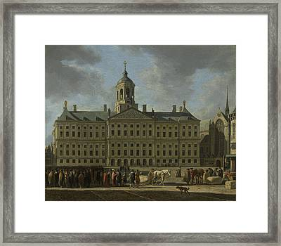 The Town Hall On Dam Square, Amsterdam The Netherlands Framed Print
