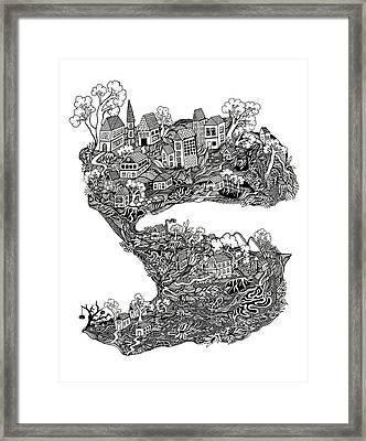 The Town Framed Print