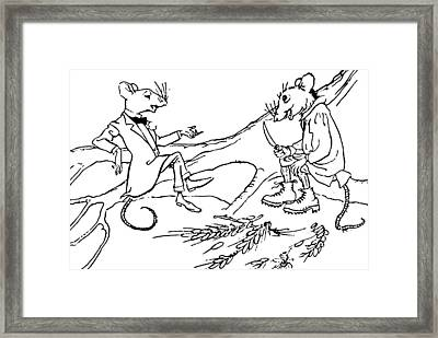 The Town Mouse And The Country Mouse Framed Print by Arthur Rackham