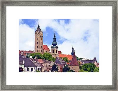 The Town Of Krems Along The Danube Framed Print by Miva Stock
