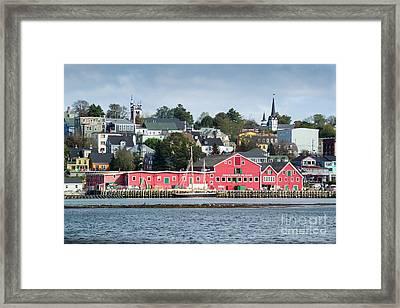 The Town Of Lunenburg Framed Print