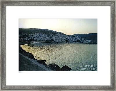 The Town Of Skopelos Framed Print by Katerina Kostaki