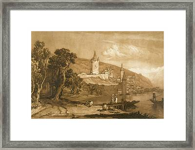 The Town Of Thun Framed Print by Joseph Mallord William Turner