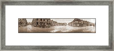 The Town Square Of St Mihiel, France Framed Print