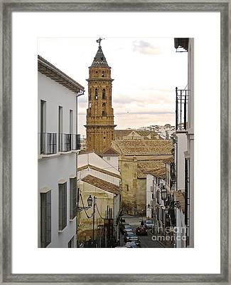 Framed Print featuring the photograph The Town Tower by Suzanne Oesterling