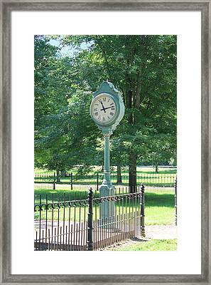 The Town's Clock Framed Print by Brenda Donko