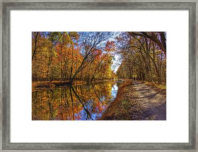 The Towpath Framed Print