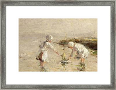 The Toy Boat Framed Print