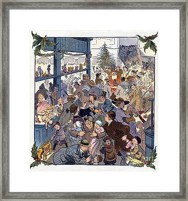 The Toy Department Puck Magazine 1913 Framed Print