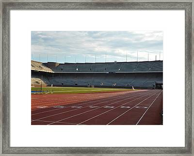 The Track At Franklin Field Framed Print by Bill Cannon
