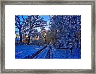 The Track Framed Print by Dave Woodbridge