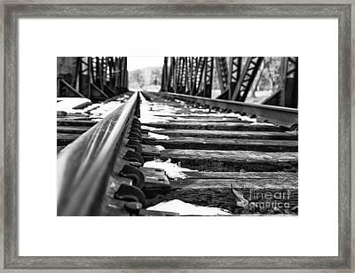 The Tracks Framed Print