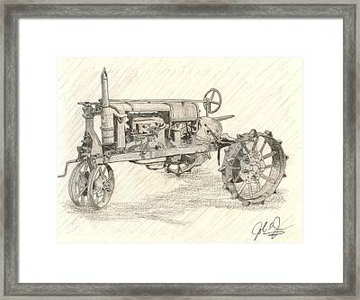 The Tractor Framed Print by John Jones