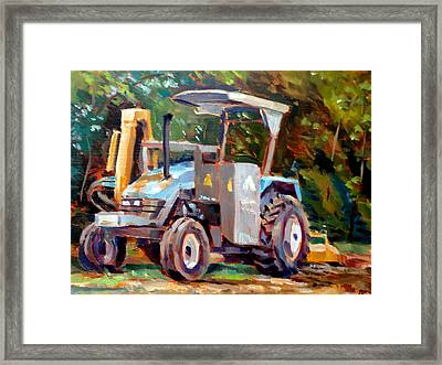 The Tractor Framed Print by Mark Hartung