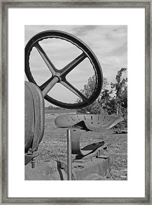The Tractor Seat Framed Print by Heather Allen