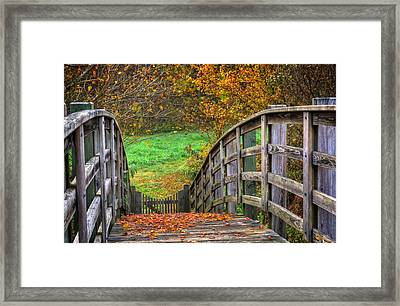 The Trail Arches On Framed Print
