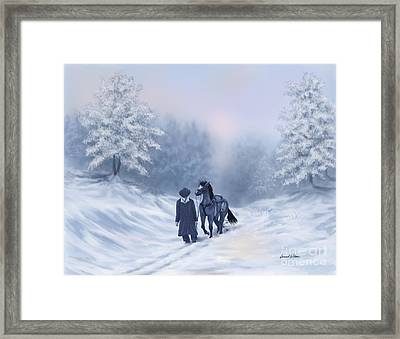 The Trail Home Framed Print