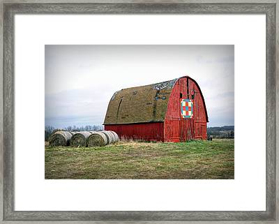 The Trails Quilt Barn Framed Print by Cricket Hackmann