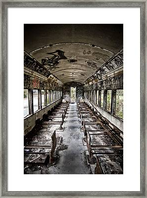 The Train Car Framed Print by Jessica Berlin