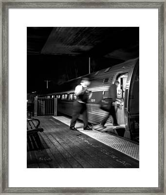 The Train Conductor Framed Print by Bob Orsillo