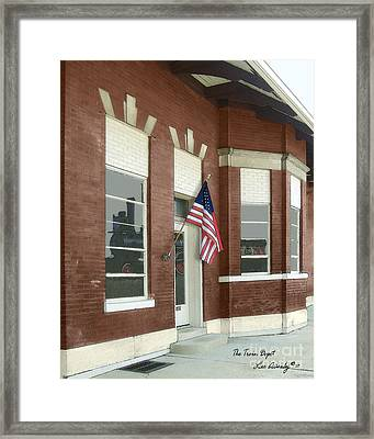The Train Depot Framed Print