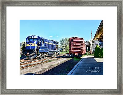 The Train Depot Framed Print by Paul Ward