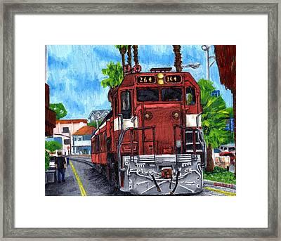 The Train From Santa Cruz Framed Print by Blake Grigorian